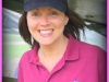 Rachael modelling the club cap and polo
